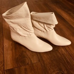 Ivory boots (can be worn with top folded or not)